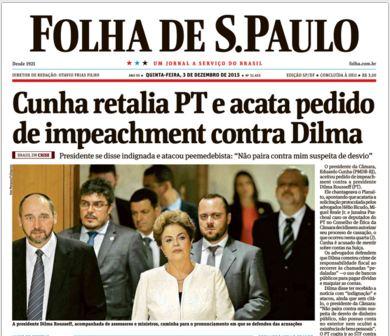 2015 12 06 Capa Folha de S. Paulo