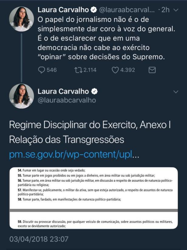 2018 tweet general laura carvalho original.jpg